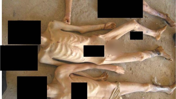 More emaciated bodies, allegedly of men killed in Syrian custody.