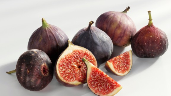 Figs  A great natural cure for a sweet tooth, fresh figs have a dense consistency and sweet flesh that's high in fiber (each 37-calorie fig packs about a gram), which slows the release of sugar into the blood, preventing the erratic high caused by cookies or cake.  Feel even fuller: Halve and add protein, like a teaspoon of goat cheese and a walnut.  Health.com: 20 snacks that burn fat