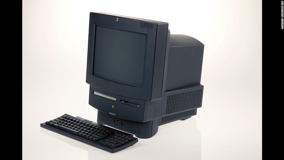 You can't win 'em all. The Macintosh TV, released in 1993, was Apple's first effort at television-computer integration. It was black, a departure from the usual Mac look, with a 14-inch screen. Only about 10,000 were made, though, before it was discontinued in February 1994.