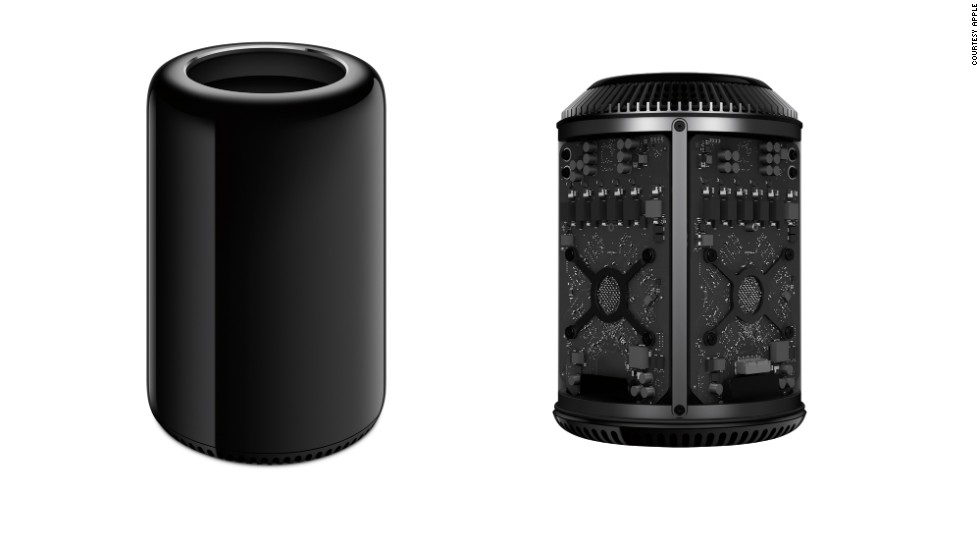 "Released in December 2013,<a href=""http://www.cnn.com/2013/12/18/tech/gaming-gadgets/apple-mac-pro-sale/index.html?iref=allsearch"" target=""_blank""> the new Mac Pro</a> is Apple's high-end workhorse computer for users with intense graphic and video needs. It's a silver and black cylinder that stands 10 inches tall."