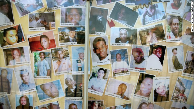 Last Christmas, a church in Chicago's South Side posted photos of some of the people recently killed by gunfire in Chicago.