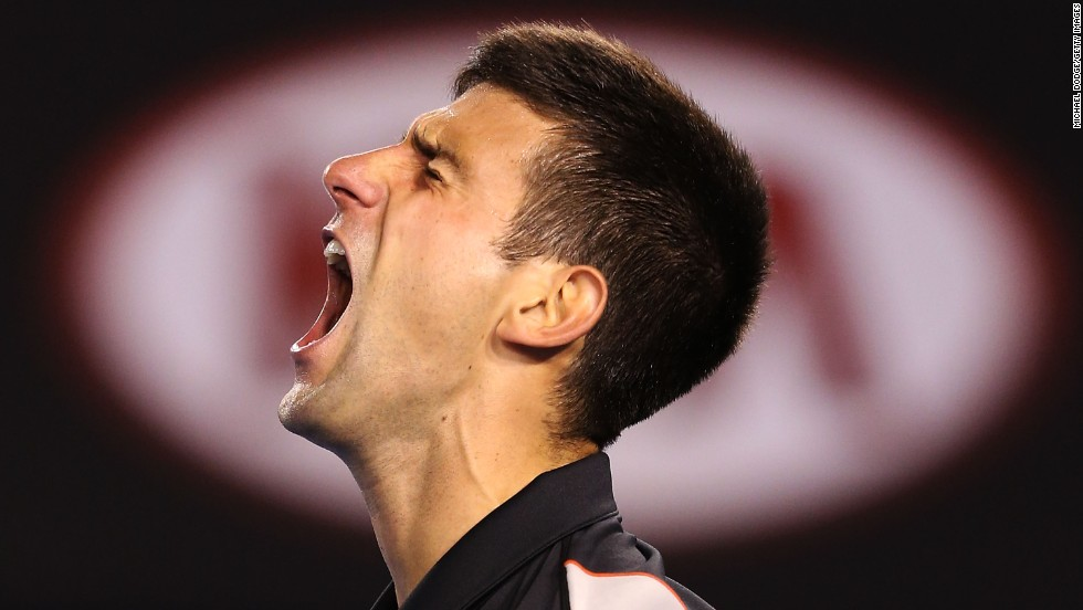 World No. 2 Novak Djokovic has won the season's first grand slam in each of the past three years.  But not this year after a grueling five-set contest ended in victory for eighth seed Stanislas Wawrinka.