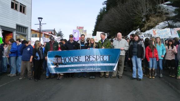 "A ""Choose Respect"" rally last year in Alaska."