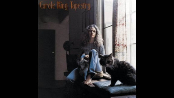 """""""Tapestry"""" by Carole King racked up four Grammys at the 1972 ceremony, including album of the year. Some of the album's songs were covered by other artists, including """"You've Got a Friend"""" by James Taylor. The cover photo of a young, relaxed King lounging in a window seat cemented her reputation as a warm, homey singer-songwriter."""