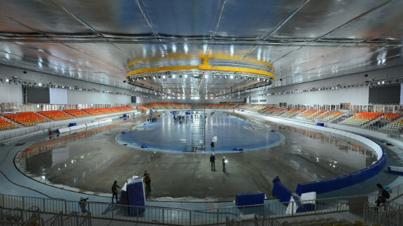 Sochi's new Adler Arena for speed skating is pictured in November 2012.