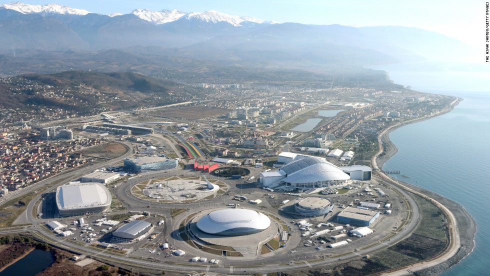 "The ""coastal cluster"" venues for the 2014 Winter Olympic Games are pictured in January 2014 in Sochi."