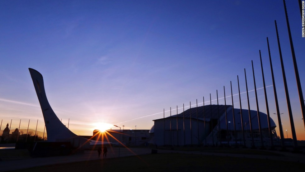 The sun rises over Sochi's Olympic Park on January 10, 2014. The 2014 Winter Olympics will run February 7 - 23 in Sochi, Russia. Six thousand athletes from 85 countries are scheduled to attend the 22nd Winter Olympics. Here's a look at the estimated $50 billion transformation of Sochi for the Games.