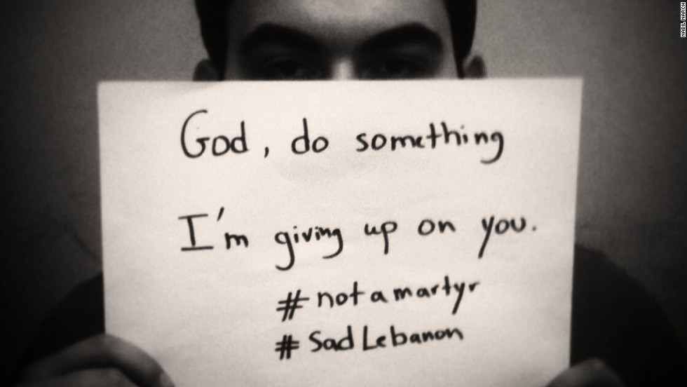 "Lebanese began protesting the teenager's death through a unique online campaign called ""Not a Martyr."""