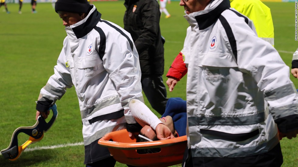 In January Falcao suffered a cruciate ligament injury during a French Cup football match against Chasselay.