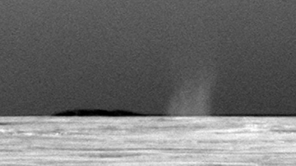 Both Spirit and Opportunity examined the frequency and dynamics of dust devils, which help scientists understand how wind moves dust and sand in a thin atmosphere. Spirit saw dozens of dust devils, but Opportunity, located halfway around the planet, likely never encountered one until more than six years into its mission. An image from July 15, 2010, shows a column of swirling dust.
