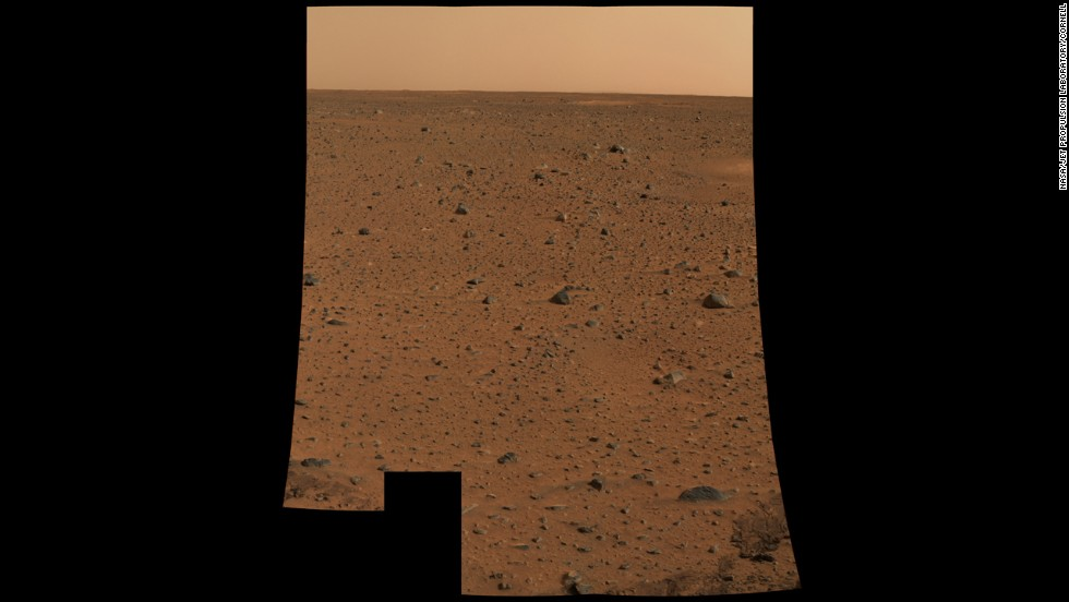 This first color photo using Spirit's panoramic camera was the highest-resolution image ever taken on another planet's surface at the time.