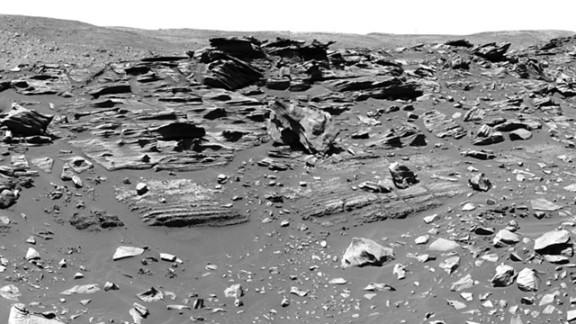 In February 2006, Spirit arrived at a geological feature called Home Plate, about 260 feet in diameter. It was so named because it looks like a baseball diamond's home plate from orbit. In this area, the rover found a material called opaline silica, a discovery important for understanding conditions that would have supported life on Mars. Scientists believe this material formed when water interacted with volcanic material known as with magma.