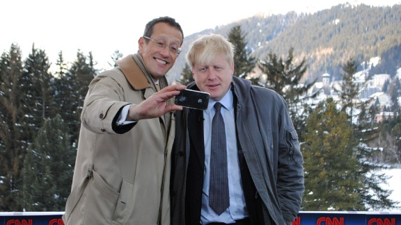 Richard Quest's selfie challenge continues. This time, it's Boris Johnson, the mayor of London.