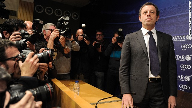 Sandro Rosell has resigned as Barcelona president after three-and-a-half years in charge at the Spanish champions.