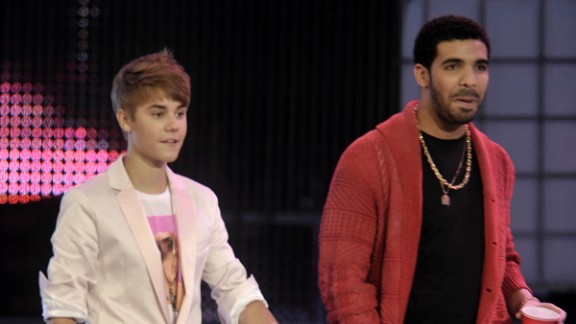 Drake, seen here with Bieber in 2011, is another star who