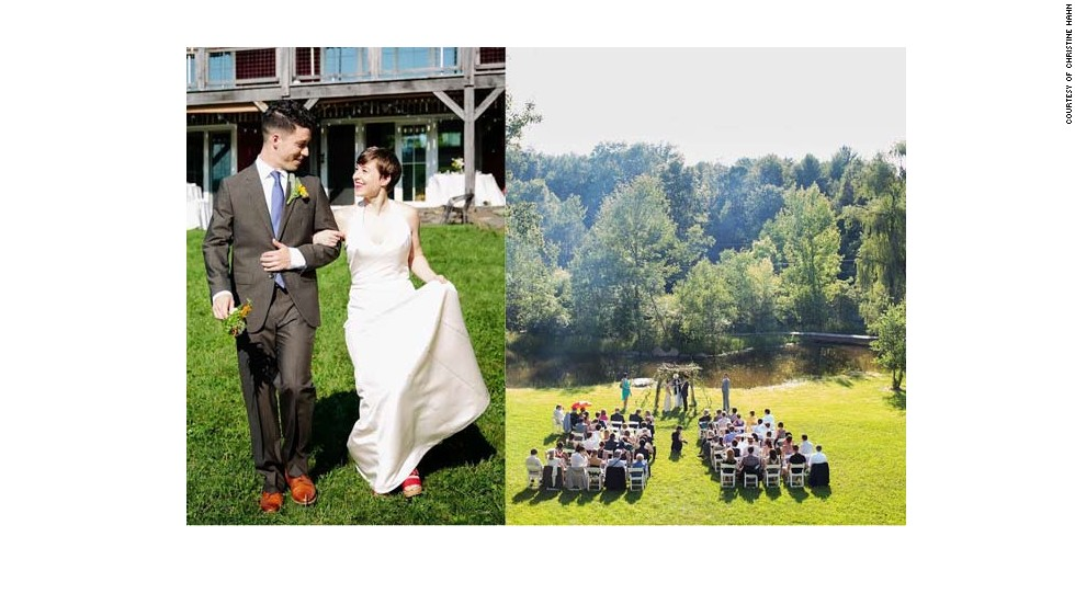 "<a href=""http://www.elle.com/life-love/sex-relationships/kelsey-isaac-weddings#slide-9"" target=""_blank"">Maggi and Alex</a>: June 29, 2013, at a converted barn next to a pond in Saugerties, New York"