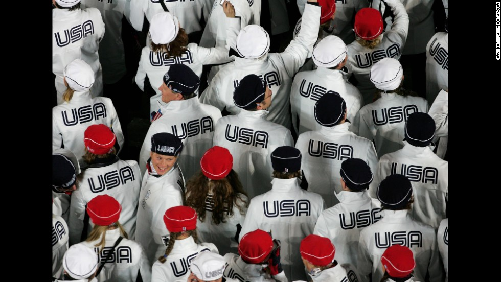 US Athletes At The 2006 Winter Olympics In Turin Italy
