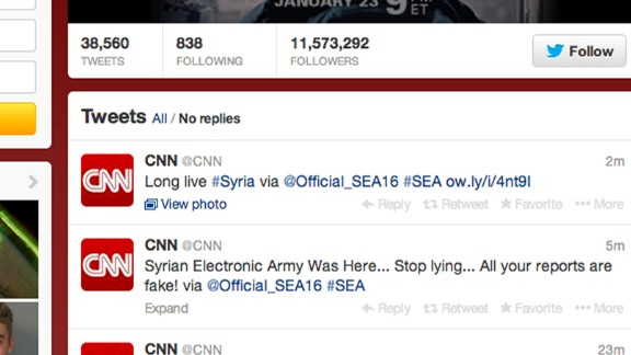 The affected accounts included CNN