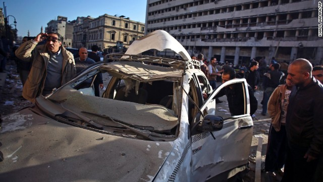 Security cam catches explosion in Cairo