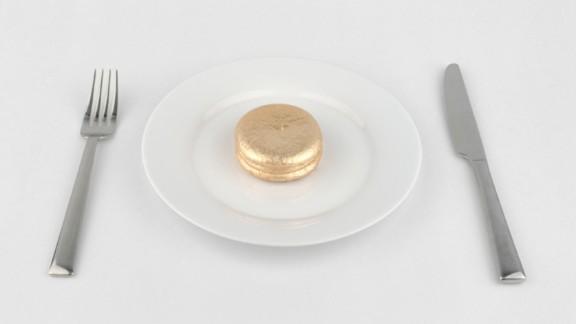 Artist Jin Joo Chae creates a golden Choco Pie.