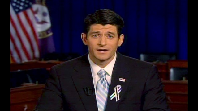 Rep. Paul Ryan, R-Wis., delivers the GOP response to President Barack Obama's State of the Union address in 2011.