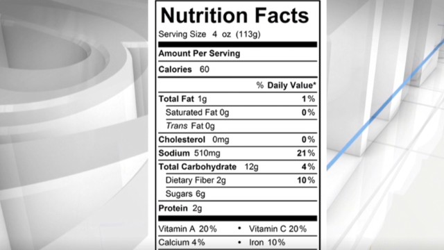 FDA to give nutrition labels a makeover