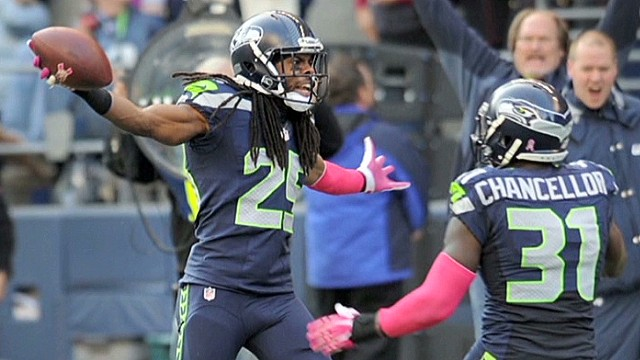 Why did the NFL fine Richard Sherman?