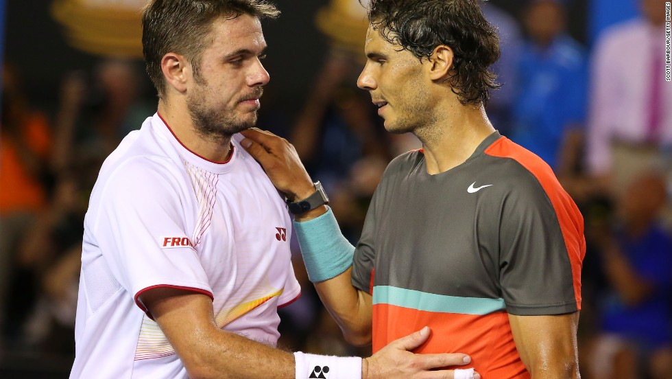 Nadal was gracious in defeat. It was the first time in 13 matches that the Spaniard had lost to the Swiss.