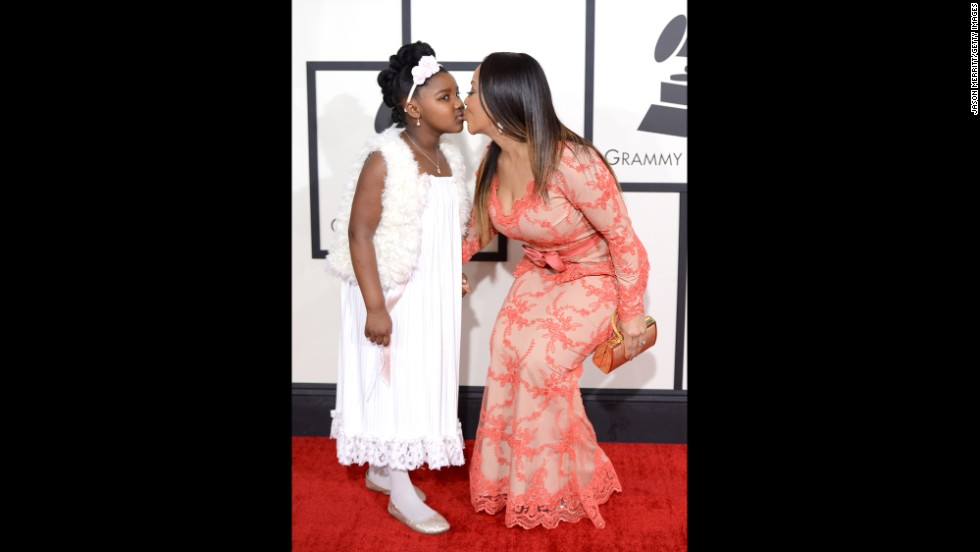 Erica Campbell and one of her daughters