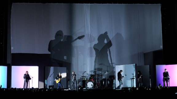 Nine Inch Nails is joined by Dave Grohl, Fleetwood Mac's Lindsey Buckingham and Josh Homme of Queens of the Stone Age to close out the 56th Annual Grammy Awards on Sunday, January 26.