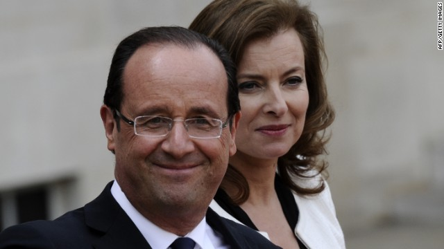 France's president Francois Hollande and his companion Valerie Trierweiler separeated in 2014 after allegations of an affair emerged.