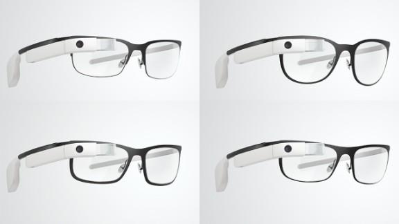 Google's four new Google Glass frame styles can hold prescription lenses.