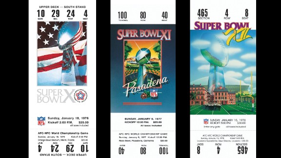 Tickets for Super Bowls X, XI and XII.