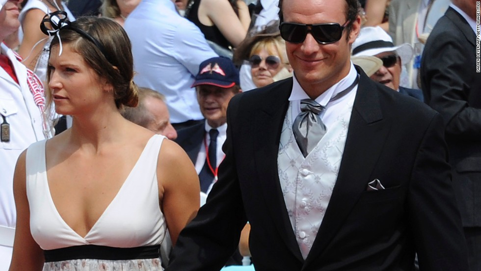 Mancuso was in a four-year relationship with fellow skier Svindal Aksel Lund until they split in 2013. Here they attend the 2011 wedding of Prince Albert II of Monaco and Princess Charlene.