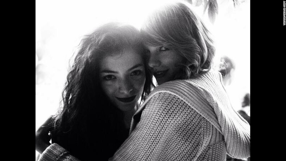 "We know what you're thinking: Who <em>isn't </em>Taylor Swift friends with? We couldn't tell you, because this superstar seems to be friendly with everyone famous, including Lorde. After the teen singer picked up two awards at the 2014 Grammys, Swift -- who didn't win that night -- shared a photo to let her fans know that she was fully supporting her friends. ""And you know. ... We're on each other's team,"" <a href=""https://twitter.com/taylorswift13/status/427648489472790528"" target=""_blank"">Swift tweeted</a>."
