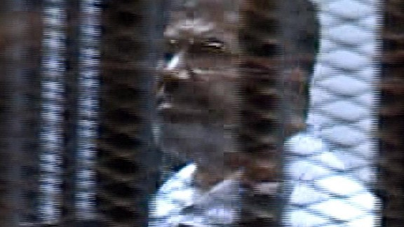 Mohamed Morsy in court during a previous appearance.