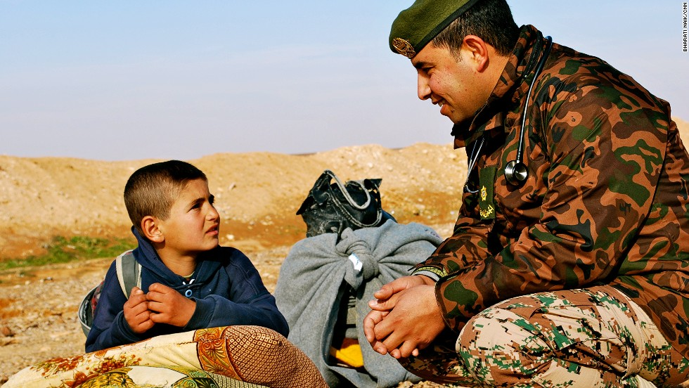 The boy refused to speak to CNN, but opened up to this Jordanian border security force doctor.