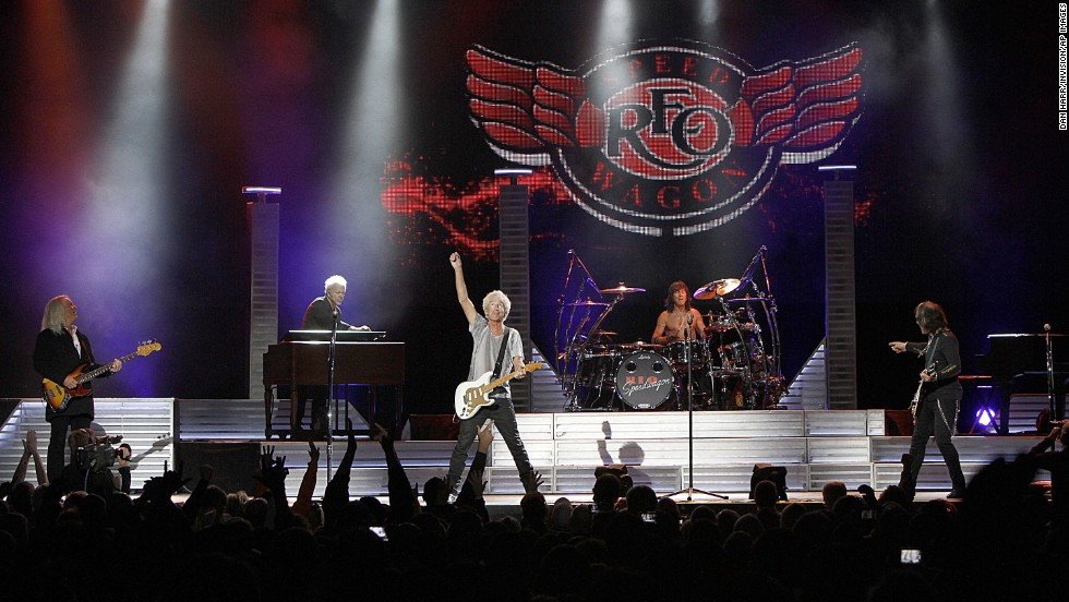 "REO Speedwagon still ""Can't Fight This Feeling."" The band, fronted by vocalist Kevin Cronin, had a successful Midwest Rock N' Roll Express tour in 2013."