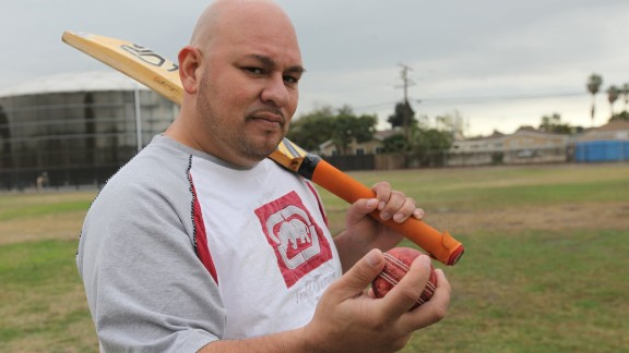 Sergio Pinales, one of the original Compton Cricket Club players.