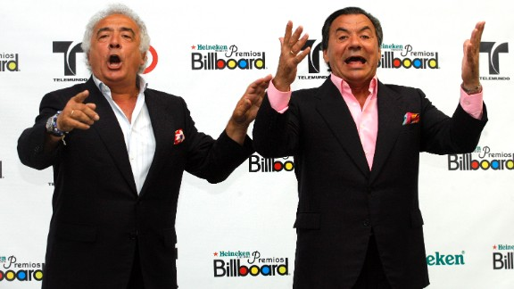 "Los del Rio has been together since 1962, but the duo didn't find success until 1996 with ""Macarena."" They are still caliente."