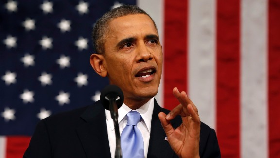 """""""Let's make this a year of action,"""" Obama said. """"That's what most Americans want -- for all of us in this chamber to focus on their lives, their hopes, their aspirations."""""""