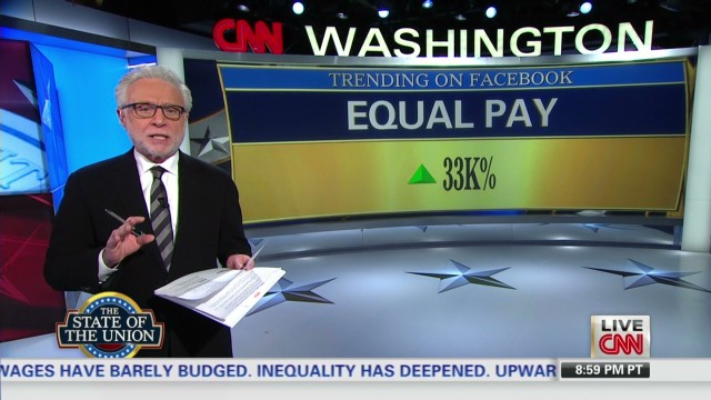 Equal pay trending on Facebook