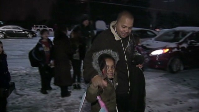 Students struck by weather finally home