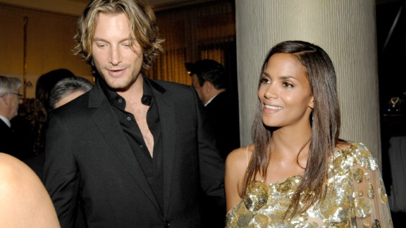 """Halle Berry's dating life has been all over the map. She's married to Olivier Martinez, who like Berry is in his late 40s. But ex-boyfriend Gabriel Aubry, left, is nine years younger than her. She once credited Aubry, a model and eventual father of her first child, for keeping her """"mojo"""" going."""