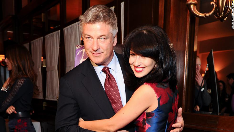 Married pair Alec Baldwin and Hilaria Thomas have a ball at Beach magazine's celebration on January 28.