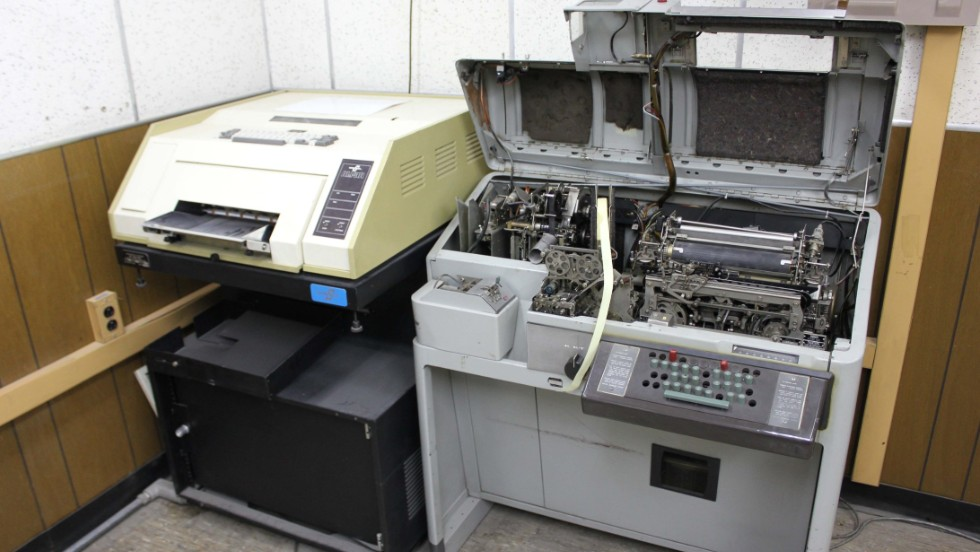 A teletype machine and a primitive fax machine were found in the secure area of the embassy.