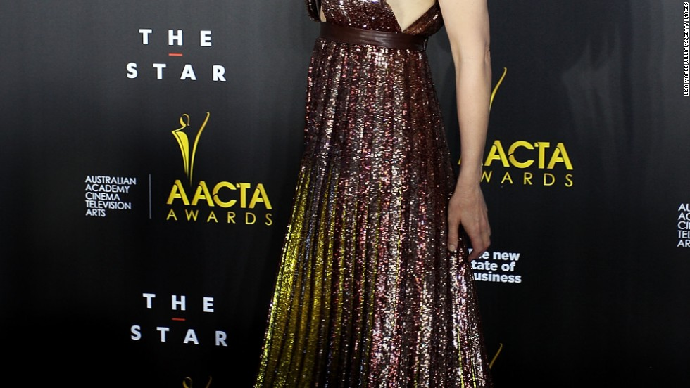 Cate Blanchett glimmers at the third annual AACTA Awards in Sydney, Australia on January 30.