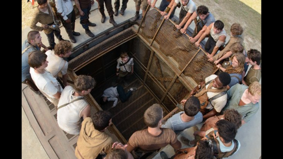 """""""The Maze Runner"""" (September 19): Another dystopian young adult novel that has been compared to """"The Hunger Games,"""" """"The Maze Runner"""" stars mostly unknown actors grappling with what they are doing in a giant labyrinth and trying to escape its clutches."""