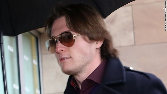 Raffaele Sollecito arrives at court in Florence on January 30, 2014 for the final verdict of his retrial.