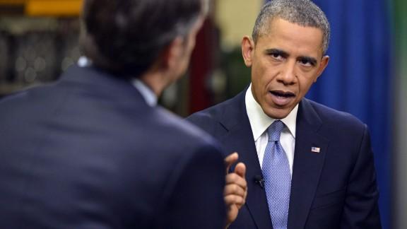 President Barack Obama talks exclusively to CNN